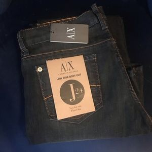 A/X Armani Exchange Low Rise Boot Cut Jeans NWT